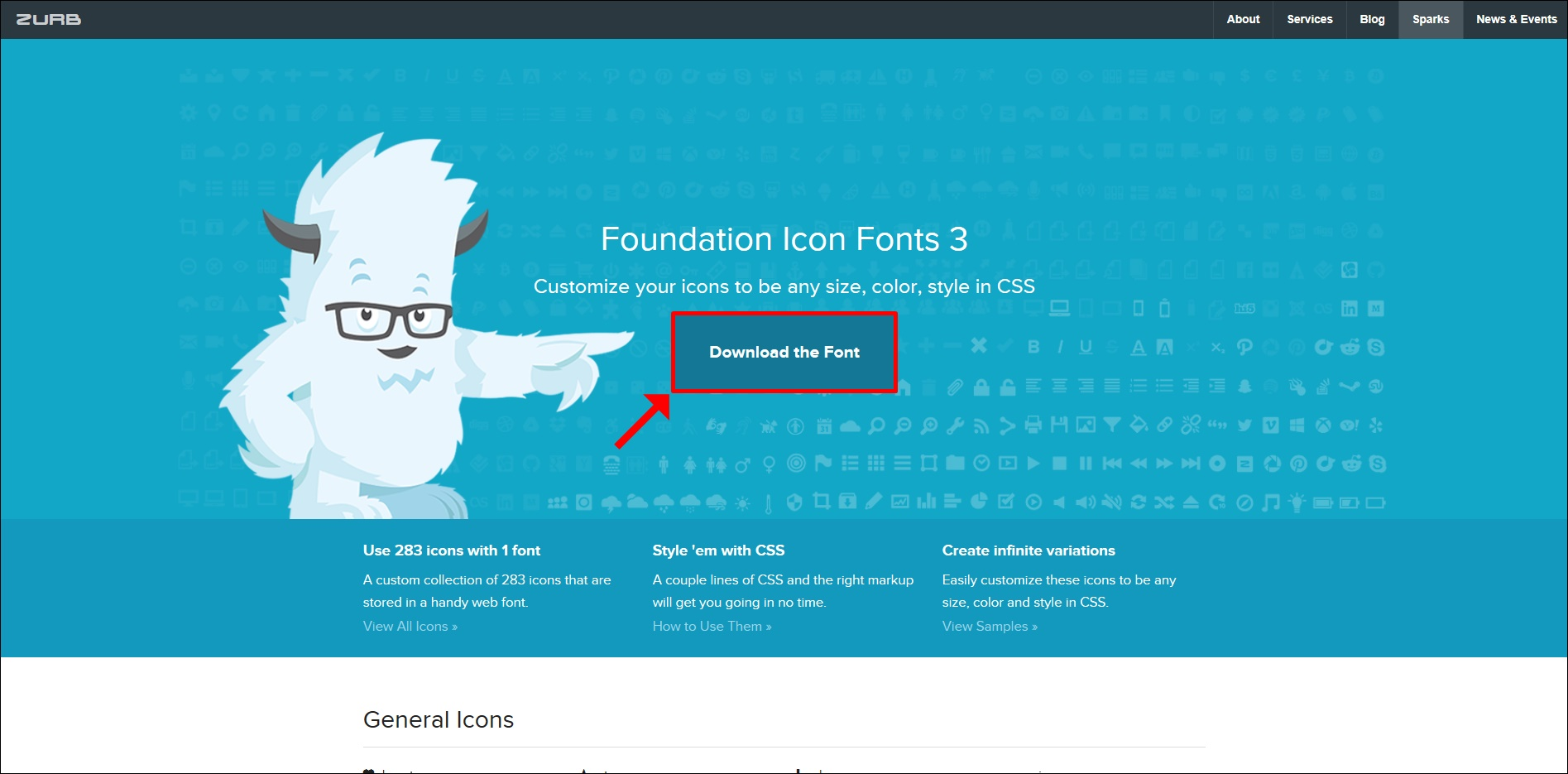 Foundation Icon Fontsの公式サイト