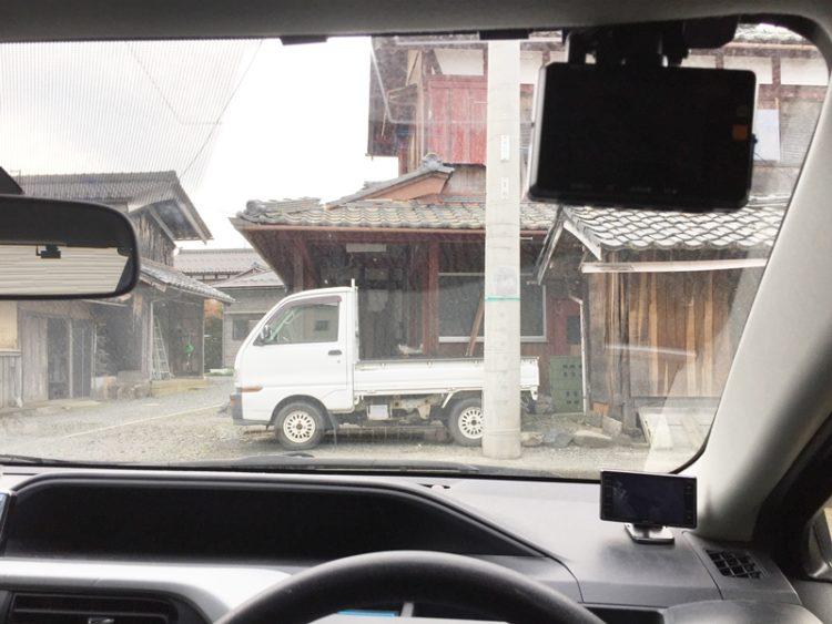 ドライブレコーダーを設置した車