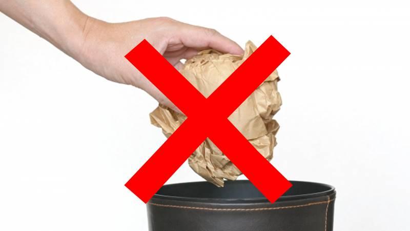 ゴミを捨ててはいけない