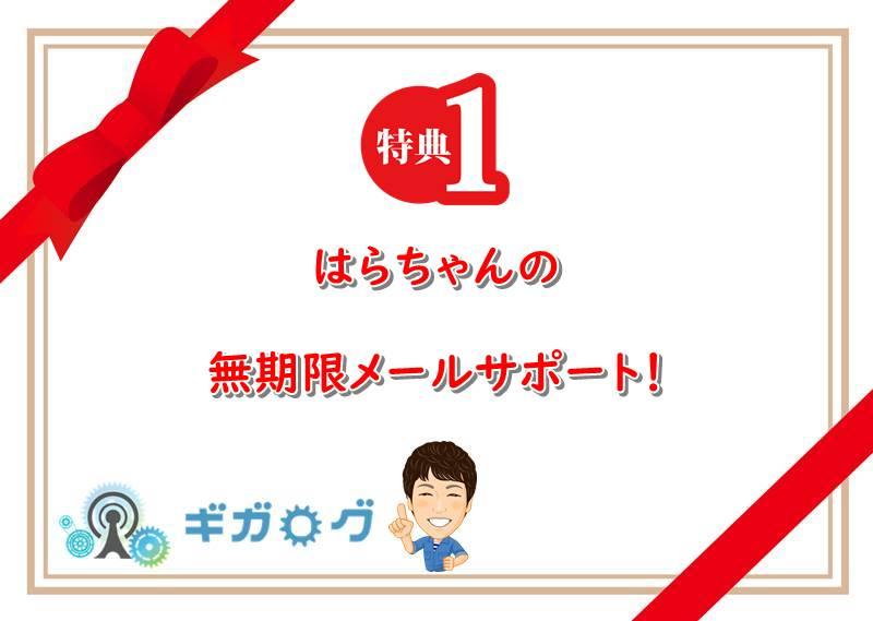 特典1:はらちゃんの無期限メールサポート!