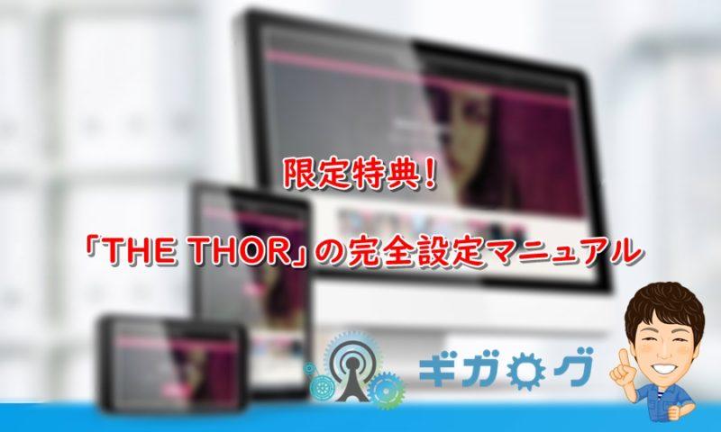 限定特典!「THE THOR」の完全設定マニュアル