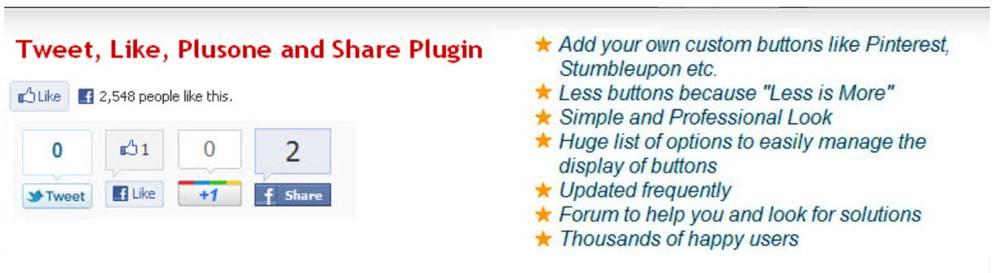 SNSシェアボタン設置プラグイン