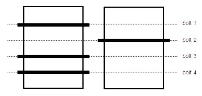 ボルトのロック例