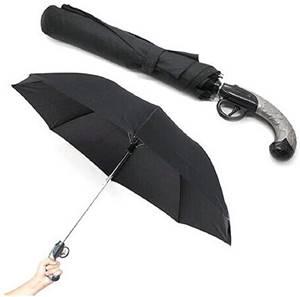 ピストル型折りたたみ傘