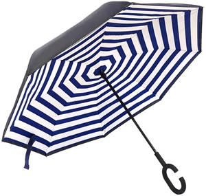 両手がフリーになる傘