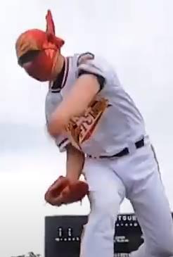 投球時に打者を見ない岡島秀樹